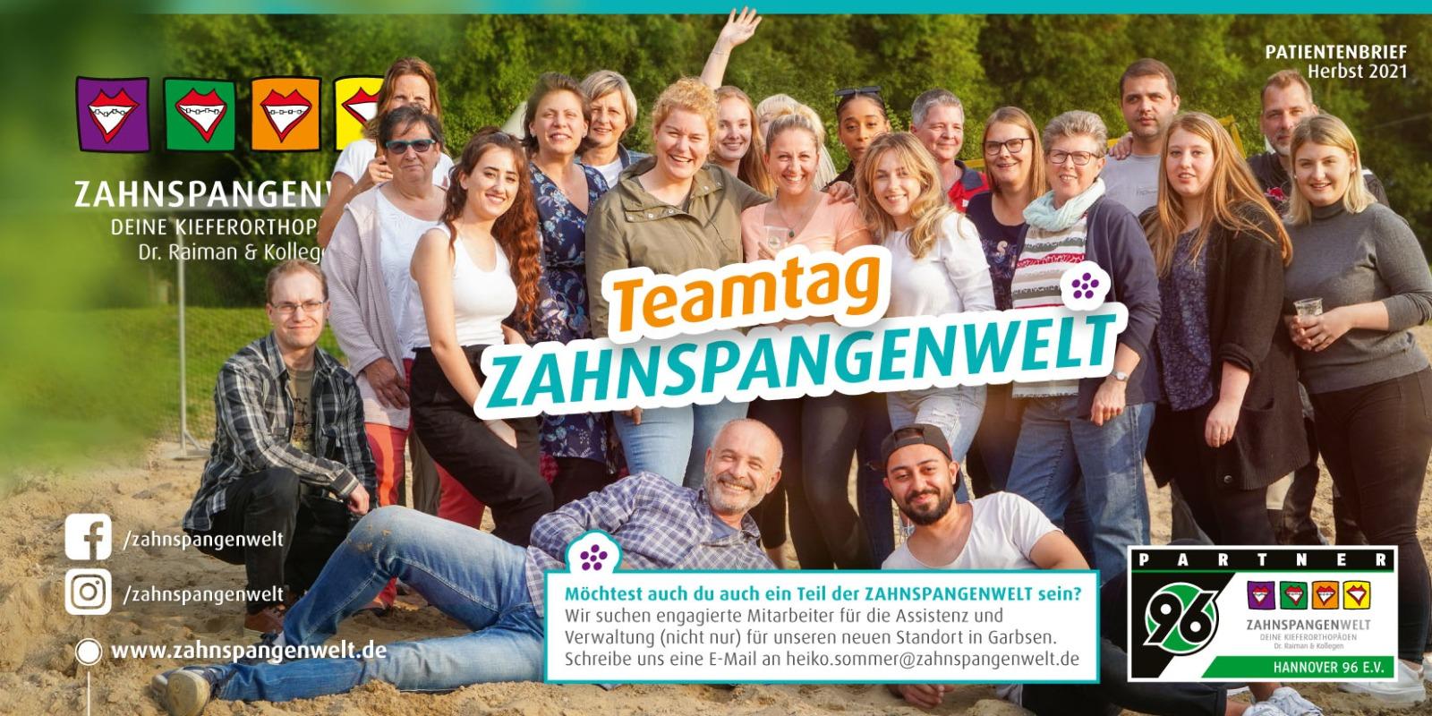 Zahnspangenwelt Patientenbrief Herbst 2021